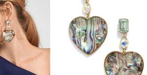 Bauble bar heart earrings 😍